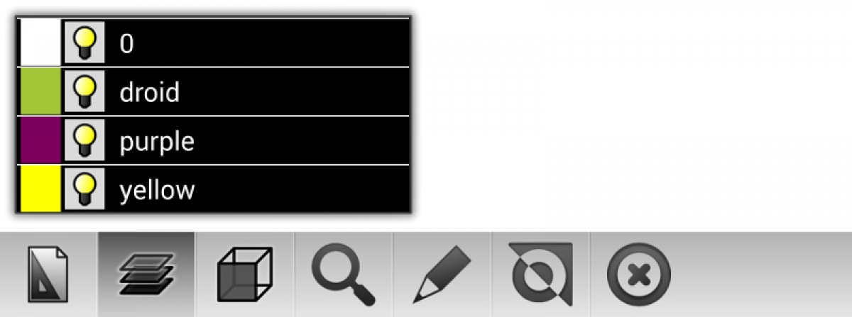 Main toolbar